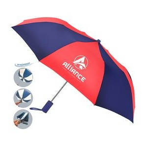 The Revolution Alternating Color Folding Umbrella